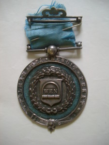 A silver medal from the 1864 Wenlock Olympian Games